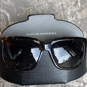 Barton Perreira Tortoise square sunglasses